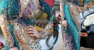 صور قنادر قطيفة 2019 عراسي , اجدد ثياب مخمليه للعروس