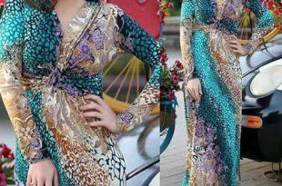 صورة قنادر قطيفة 2019 عراسي , اجدد ثياب مخمليه للعروس