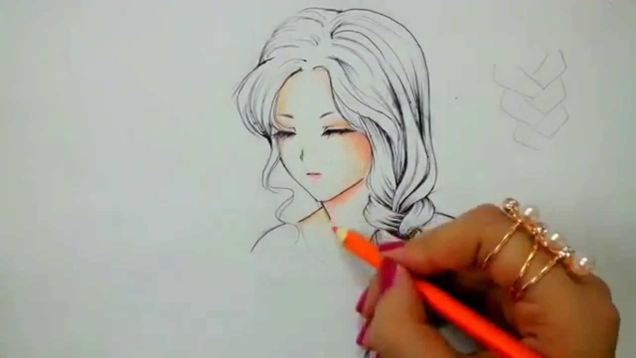 صورة رسومات بنات سهله , صور رسم صبايا