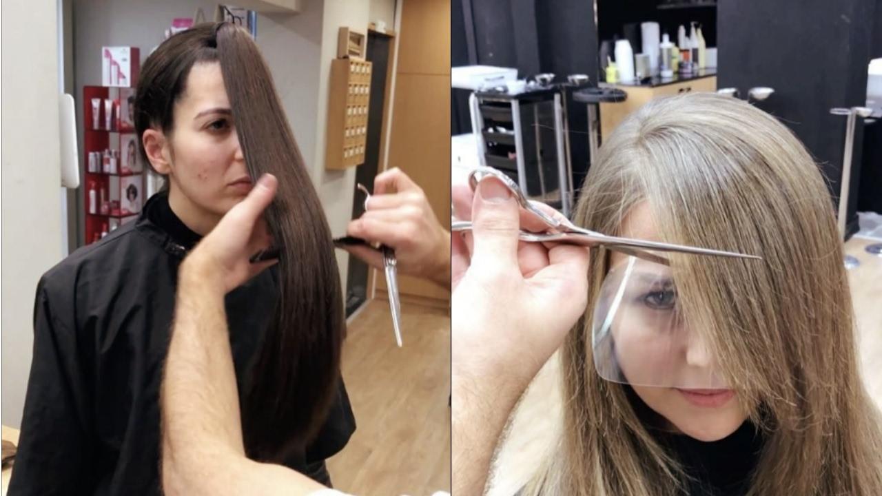 صورة كيفية قص الشعر , طرق تصفيف الشعر بالمنزل