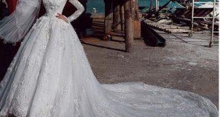فساتين زفاف للمحجبات , احدث ثياب فرح 2019للمراه المحجبه