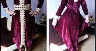 صوره بلوزة وهرانية بالقطيفة , موديلات لبس حريمي جزائري انيق جدا