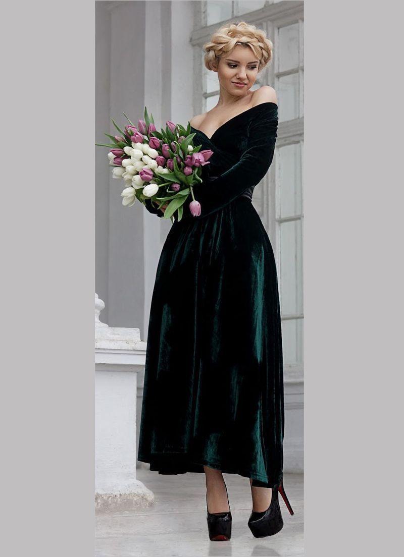 بالصور فستان مخمل , اجمل فساتين شتوية ستراها 3823 7