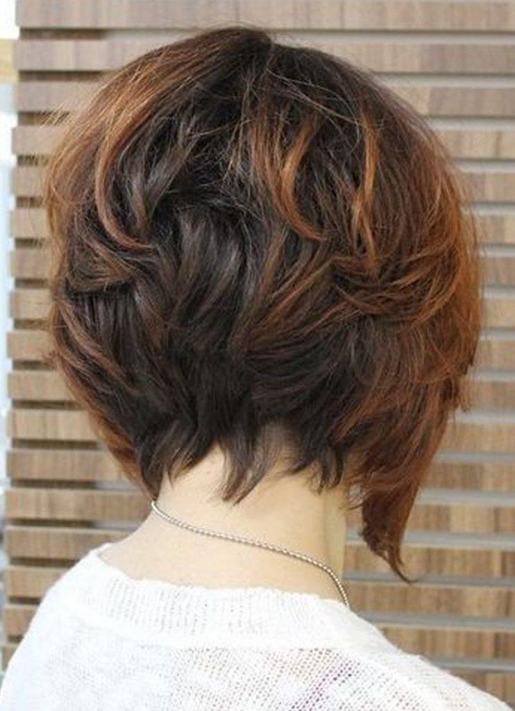 صور قصات شعر قصير مدرج , موضة الشعر القصير