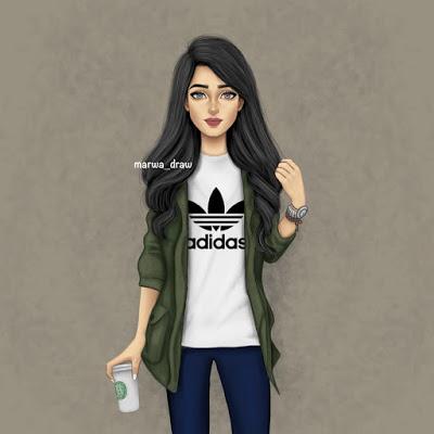 صور رسومات بنات حلوه , اجمل صورة بنات للفيس