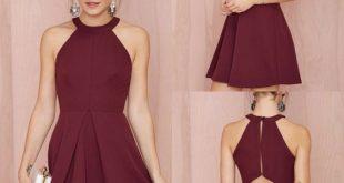 فساتين سهرة قصيرة2019 , احدث موديلات الفساتين 2019