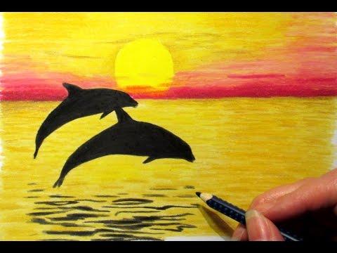 بالصور رسم منظر طبيعي سهل للاطفال , ابسط رسومات المناظر الطبيعية 4063 2