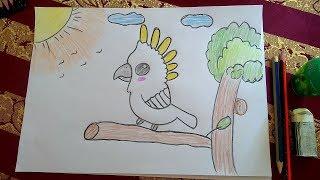 بالصور رسم منظر طبيعي سهل للاطفال , ابسط رسومات المناظر الطبيعية 4063 5