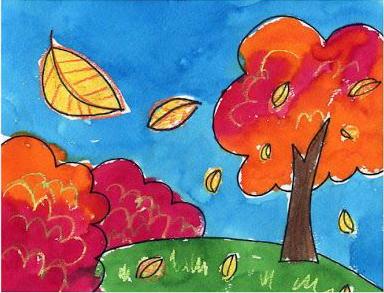 بالصور رسم منظر طبيعي سهل للاطفال , ابسط رسومات المناظر الطبيعية 4063