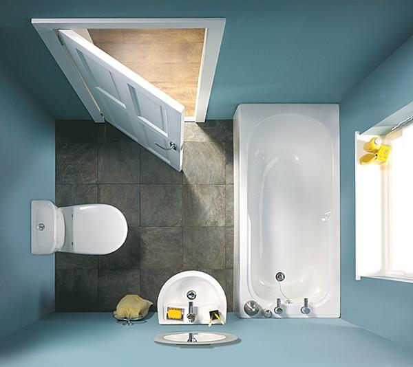 صورة ديكورات حمامات صغيرة جدا وبسيطة , ديكورات رائعه لحمامات مساحتها صغيره 4510 3