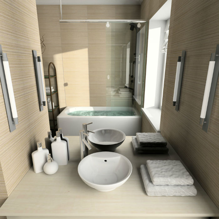 صورة ديكورات حمامات صغيرة جدا وبسيطة , ديكورات رائعه لحمامات مساحتها صغيره 4510 5