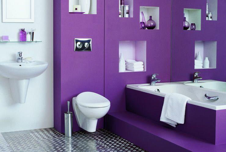 صوره ديكورات حمامات صغيرة جدا وبسيطة , ديكورات رائعه لحمامات مساحتها صغيره
