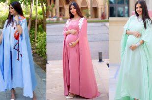 صورة فساتين للحوامل , اشيك فساتين للنساء الحوامل