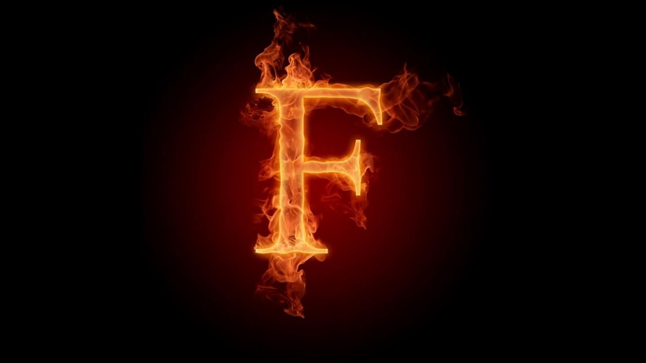 صوره صور حرف f , اشكال جامده لحرف f
