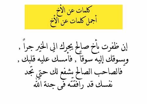 بالصور اجمل ماقيل عن الاخ الشقيق , كلمات في حب الاخ 11689 7
