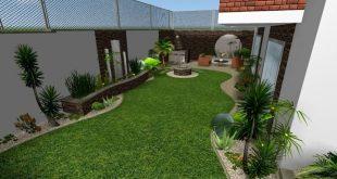 صورة تصميم حدائق منزلية صغيرة , ديكورات جميلة للحدائق