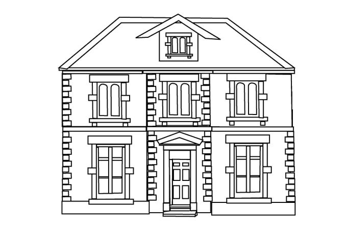 صورة منزل كرتون