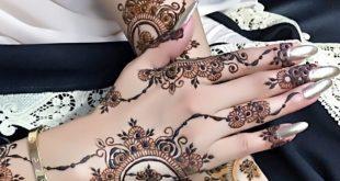 صورة احدث نقشات الحناء , اجمل عروسة