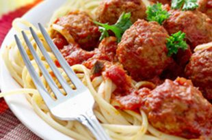 صورة طريقة عمل الباستا , عمل باستا بالطماطم و كرات اللحم